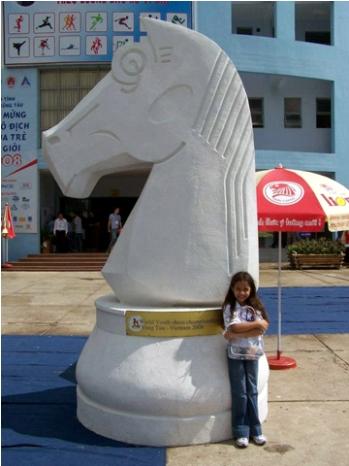 Sin duda Danitza es una joven con mucho potencial, lo cual ha demostrado desde pequeña (créditos: www.chessbase.com)