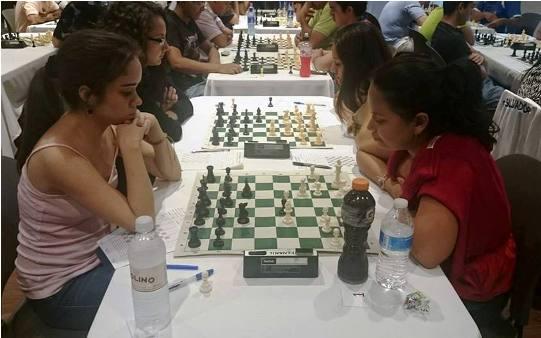 Una de las partidas decisivas. Con el gane en la tercera ronda ante la WFM. Ana Madrigal, Granados toma por primera vez el liderato en solitario.